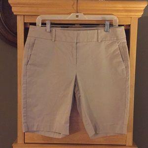 Ann Taylor Khaki Bermuda Shorts